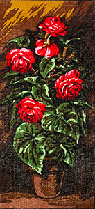 Pot of Roses  - Collection d'Art Needlepoint Canvas