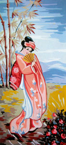 Geisha 2 - Collection d'Art Needlepoint Canvas