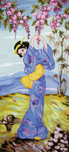 Geisha 3 - Collection d'Art Needlepoint Canvas