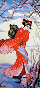 Geisha 4 - Collection d'Art Needlepoint Canvas