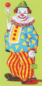 Juggling Clown - Collection d'Art Needlepoint Canvas