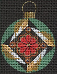 Leigh Designs - Hand-painted Needlepoint Canvases - Russian Dynasty Ornaments -  Misha Ornament/Coaster