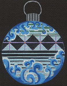 Leigh Designs - Hand-painted Needlepoint Canvases - Russian Dynasty Ornaments -  Dmitri Ornament/Coaster