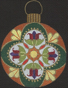 Leigh Designs - Hand-painted Needlepoint Canvases - Russian Dynasty Ornaments - Irina Ornament/Coaster
