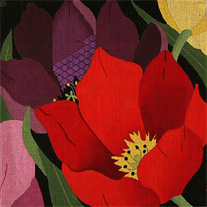 Giant Tulips - Hand Painted Needlepoint Canvas from dede's Needleworks