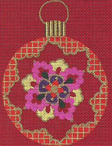 Leigh Designs - Hand-painted Needlepoint Canvases - Chinese Dynasty Ornaments -  Shang Ornament/Coaster