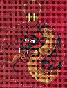 Leigh Designs - Hand-painted Needlepoint Canvases - Chinese Dynasty Ornaments -  Ch'ing Ornament/Coaster