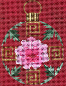 Leigh Designs - Hand-painted Needlepoint Canvases - Chinese Dynasty Ornaments -  Sui Ornament/Coaster