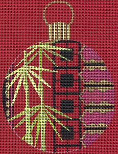 Leigh Designs - Hand-painted Needlepoint Canvases - Chinese Dynasty Ornaments -  Tang Ornament/Coaster