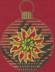 Leigh Designs - Hand-painted Needlepoint Canvases - Chinese Dynasty Ornaments -  Chin Ornament/Coaster