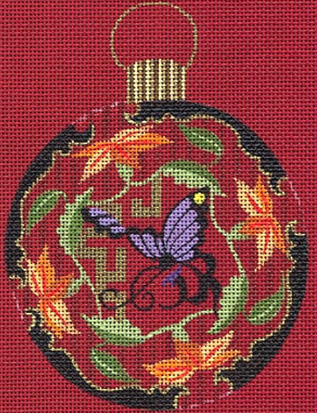 Leigh Designs - Hand-painted Needlepoint Canvases - Chinese Dynasty Ornaments -  Sung Ornament/Coaster