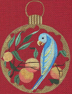 Leigh Designs - Hand-painted Needlepoint Canvases - Chinese Dynasty Ornaments -  Chou Ornament/Coaster