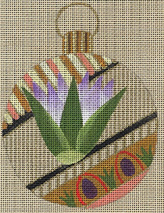 Leigh Designs - Hand-painted Needlepoint Canvases - Egyptian Dynasty Ornaments -  Ptolemy Ornament/Coaster