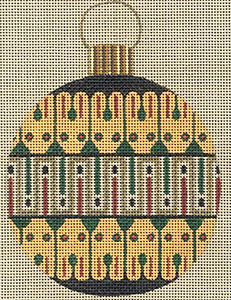 Leigh Designs - Hand-painted Needlepoint Canvases - Egyptian Dynasty Ornaments -  Khufu Ornament/Coaster