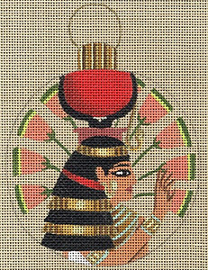 Leigh Designs - Hand-painted Needlepoint Canvases - Egyptian Dynasty Ornaments -  Isis Ornament/Coaster