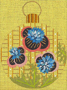 Leigh Designs - Hand-painted Needlepoint Canvases - Moghul India Dynasty Ornaments -  Rama Ornament/Coaster