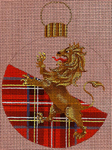Leigh Designs - Hand-painted Needlepoint Canvases - British Dynasty Ornaments - Stuart