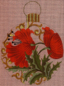 Leigh Designs - Hand-painted Needlepoint Canvases - British Dynasty Ornaments - Lancaster