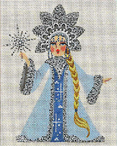 Leigh Designs - Hand-painted Needlepoint Canvases - Winter Maidens - Snow Maiden