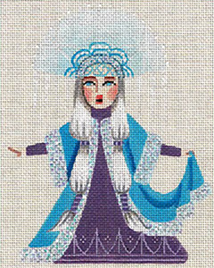 Leigh Designs - Hand-painted Needlepoint Canvases - Winter Maidens - Ice Princess