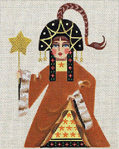 Leigh Designs - Hand-painted Needlepoint Canvases - Winter Maidens - Starshine