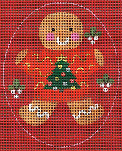 Leigh Designs - Hand-painted Needlepoint Canvases - Ginger Breads - Ginger Tree