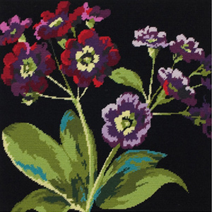 Auricula Needlepoint Cushion/Picture Kit