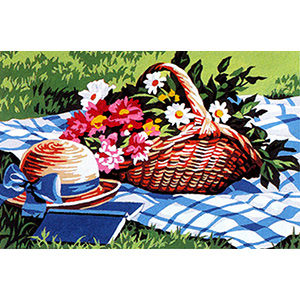 SEG de Paris Needlepoint - Small Needlepoint Canvases - Scene Champetre (Country Scene) Canvas