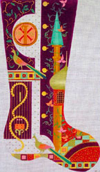 Leigh Designs - Hand-painted Needlepoint Canvases - Byzantine Dynasty Stockings - Romanus Stocking