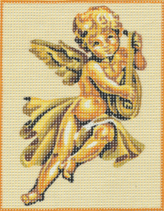Cherub with Lute Kit