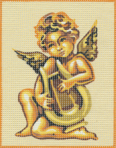 Cherub with Harp Kit