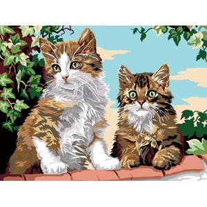 SEG de Paris Tapestry//Needlepoint Kit Kittens on the Wall Les Chatons Font le