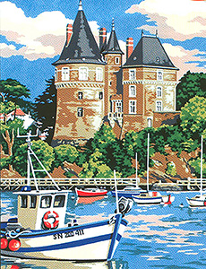 "SEG de Paris Needlepoint ""Le chateau"""