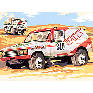 SEG de Paris Needlepoint - Medium Needlepoint Canvases - Rallye des Sables Canvas