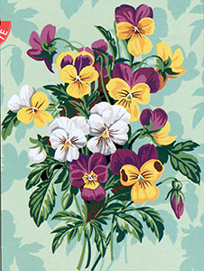 SEG de Paris Needlepoint - Medium Needlepoint Canvases - Les Pensees Canvas (The Pansies)