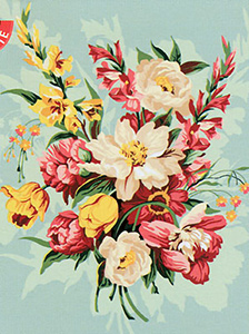 SEG de Paris Needlepoint - Medium Needlepoint Canvases - Bouquest d'ete Canvas (Summer Bouquet)
