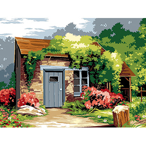 SEG de Paris Needlepoint - Medium Needlepoint Canvases - Le Cabanon