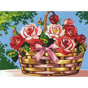 SEG de Paris Needlepoint - Medium Needlepoint Canvases - Le Panier de Roses