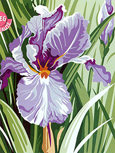 SEG de Paris Needlepoint - Iris
