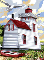 SEG de Paris Needlepoint - Medium Needlepoint Canvases - Phare Canadien (Canadian Lighthouse)