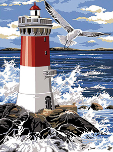 SEG de Paris Needlepoint - Medium Needlepoint Canvases - Le Phare (The Lighthouse)