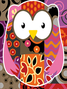 SEG de Paris Needlepoint - Chouette Patch (Patchwork Owl)