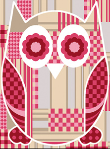 SEG de Paris Needlepoint - Hiboux Patch (Patchwork Owl 2)