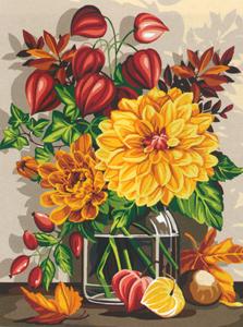 SEG de Paris Tapestry//Needlepoint Kit Verrine D/'hiver Winter Flowers