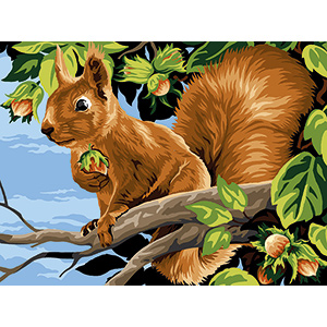 SEG de Paris Needlepoint - Medium Needlepoint Canvases - Les Noisettes (Nuts)