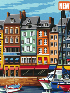 SEG de Paris Needlepoint - Medium Needlepoint Canvases - Facade a Honfleur
