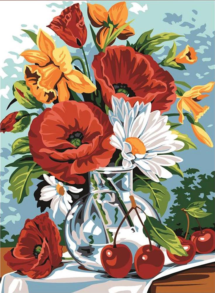 Winter Flowers Verrine D/'hiver SEG de Paris Tapestry//Needlepoint Kit
