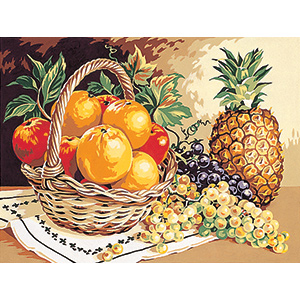 SEG de Paris Needlepoint - Medium Needlepoint Canvases - Senteurs de Fruits (Fruit Scents) Canvas