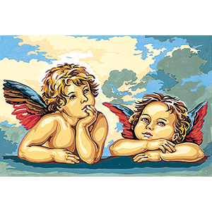 SEG de Paris Needlepoint - Small Needlepoint Canvases - Raphael's Angels Canvas