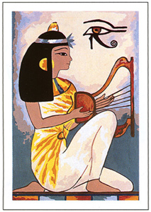 SEG de Paris Needlepoint - Egyptian Lyre Canvas